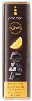 Steviabar mörk choklad, ganache och apelsin
