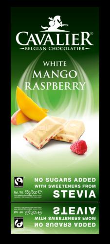 Chokladkaka - Vit choklad med mango och hallonfyllning